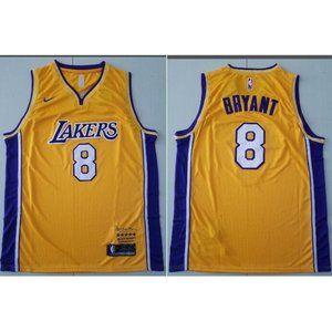 Los Angeles Lakers 8 Kobe Bryant Gold  Jersey